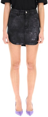 ATTICO Tie Dye Denim Skirt