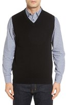 Nordstrom Cashmere V-Neck Sweater Vest (Regular & Tall)