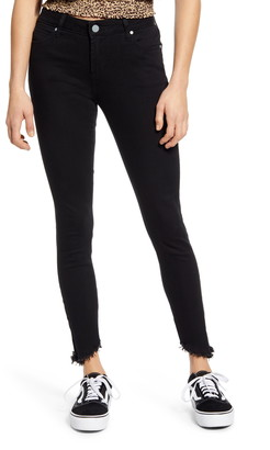 Articles of Society Suzy Fray Hem Ankle Skinny Jeans