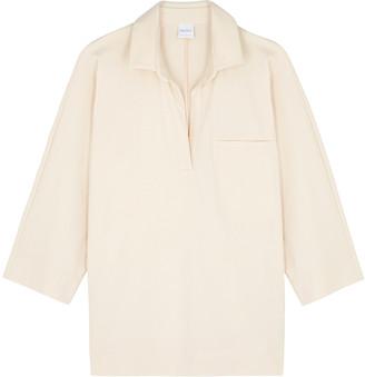 MAX MARA LEISURE Paggi cream stretch-jersey blouse