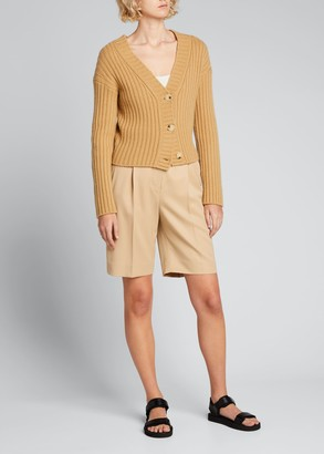 Vince Chunky Ribbed Button-Front Cardigan
