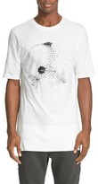 Helmut Lang Men's Disco Ball Graphic Sliced Hem T-Shirt