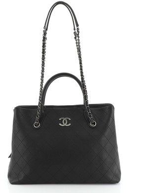 Chanel Urban Shopping Tote Quilted Caviar Large