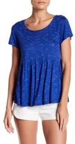 Bobeau Slub Spacedye Babydoll Knit Shirt (Petite)