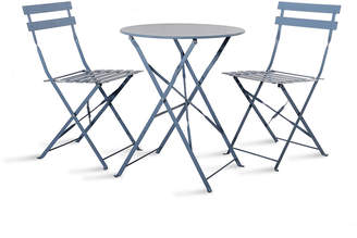 Rive Droite Garden Trading Bistro Table & Chairs Set - Dorset Blue - 2 Chairs