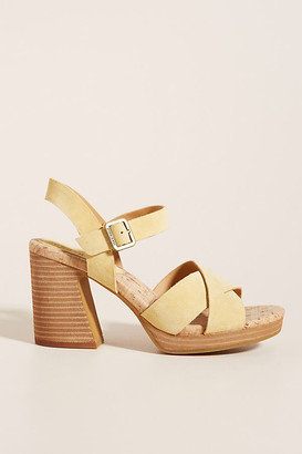 Kork-Ease Kristina Heels By in Yellow Size 7