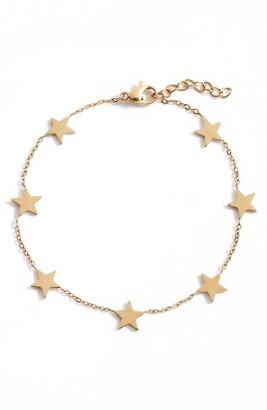 Knotty Delicate Star Bracelet