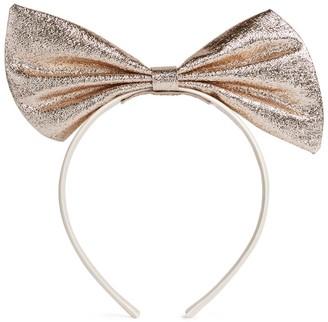Hucklebones London Glitter Giant Bow Hairband