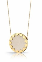 House of Harlow 1960 Cream Leather Starburst Pendant Necklace