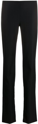 Versace Pre-Owned 1990s Decorative Buttons Flared Trousers