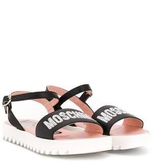 MOSCHINO BAMBINO Logo Strap Sandals