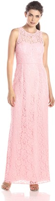Donna Morgan Women's Harper Long Lace Illusion Gown