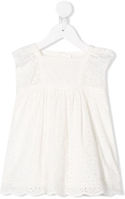 Bonpoint Embroidered Shift Dress