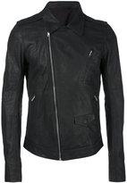 Rick Owens Stooges biker jacket - men - Calf Leather/Cotton/Cupro - 46
