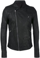 Rick Owens Stooges biker jacket - men - Cotton/Calf Leather/Cupro - 46