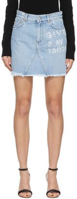 Givenchy Blue A-Line Miniskirt