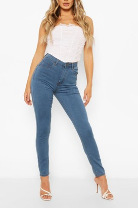 boohoo High Waist Stretch Super Skinny Jeans