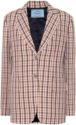 Prada Checked wool blazer
