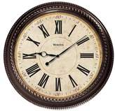 "World Menagerie 20"" Brown Round Marbled Case Roman Numeral Wall Clock"