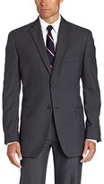 Haggar Men's Textured Pinstripe Tailored-Fit Two-Button Suit Separate Coat