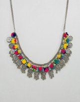 Pieces Statement Pom Pom Necklace