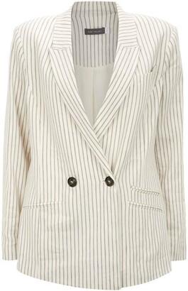 Mint Velvet Striped Double Breasted Blazer