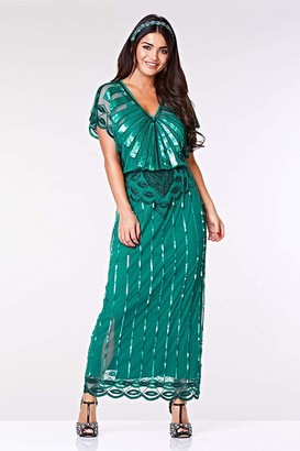 Gatsbylady London Angelina Maxi Dress in Teal