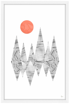 Striped Reflection (Framed Giclee)
