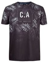 Burton Mens Black Leaf Los Angeles Print T-Shirt