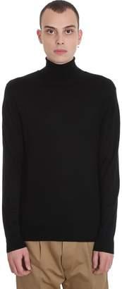 Hosio Knitwear In Black Wool