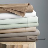 Hudson Park 600 TC Sateen Solid Egyptian Cotton QUEEN Flat Sheet Mink Brown