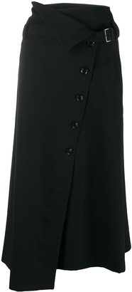 Y's Off-Centre Button Skirt
