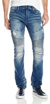 True Religion Men's Misfit Rocco Relaxed Skinny Distressed Moto Jean