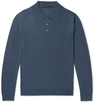 Prada Slim-Fit Virgin Wool Polo Shirt