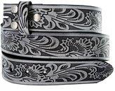 """Belts BS220 Western Floral Embossed Vintage Soft Genuine Leather Belt Strap 1.5"""""""