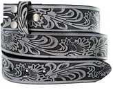 Belts Western Floral Embossed Vintage Soft Genuine Leather Belt Strap 1.5""