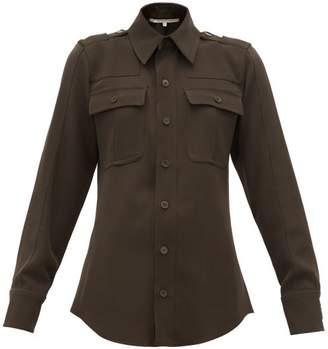 Stella McCartney Wool Twill Military Shirt - Womens - Dark Green