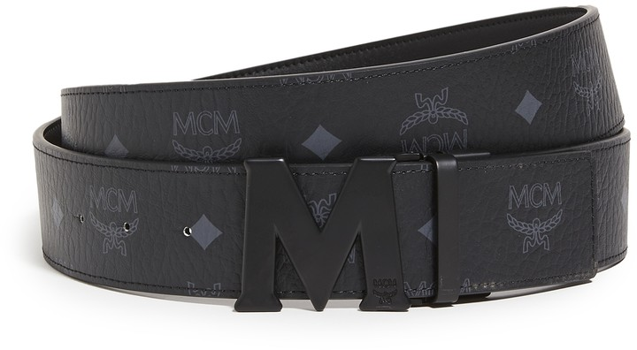 Mcm Men S Reversible Signature Belt Shopstyle Widest selection of new season & sale only at lyst.co.uk. matte m buckle reversible belt
