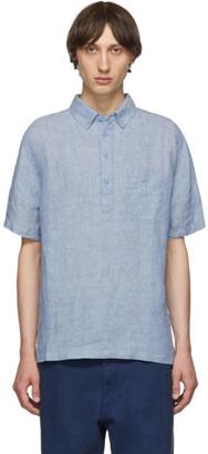 Onia Blue Linen Josh Pullover Shirt