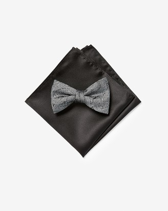Express Paisley Bow Tie & Pocket Square Gift Set