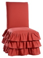 Nobrand No Brand Ruffle 3-Tiered Dining Room Chair Slipcover