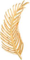 Oscar de la Renta Palm leaf brooch