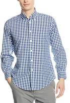 Brooks Brothers Men's 100038667_BLU_NAVY Casual Shirts,(Manufacturer Size:Large)