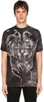 Balmain Leopard Printed Destroyed Cotton T-Shirt