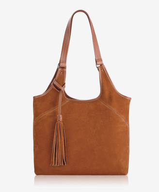 GiGi New York Sage Hobo, Cognac French Nubuck Suede
