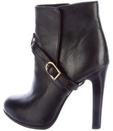 Tory Burch Leather Buckle-Accented Ankle Boots