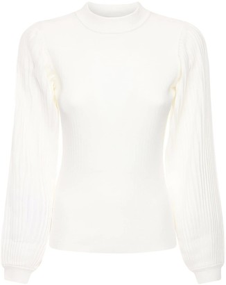 Proenza Schouler White Label Knit Silk & Cotton Sweater