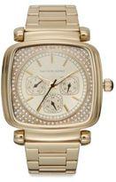 Saks Fifth Avenue Square Goldtone Stainless Steel Bracelet Watch