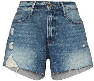Frame Le Grand Garcon denim shorts