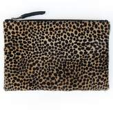 Oliva Cheetah Zip Clutch